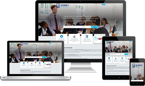 Sydney Private Schools displayed beautifully on multiple devices